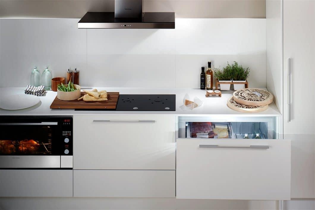 Das neuseeländische Unternehmen Fisher & Paykel ist bekannt für seine hochwertigen, auf Schubladengröße komprimierten Elektrogeräte für die Küche. Nach dem DishDrawer™ Double folgt nun der CoolDrawer™ - eine Kühlschublade mit 5 Funktionsmodi. (Foto: Fisher & Paykel)