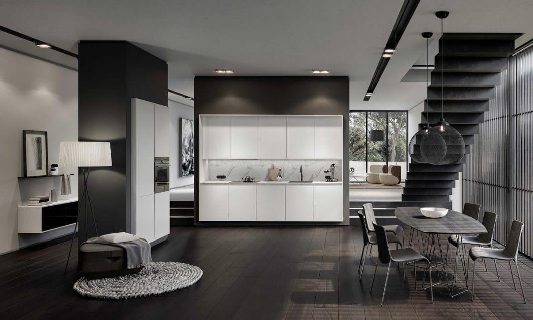 """SieMatic hat sich mit seiner Neuauflage der Pure-Kollektion dem Thema """"Frame Design"""" verschrieben. Der Premiumhersteller mit Sitz in Löhne präsentierte hochwertige Küchenräume entlang der Küchenmeile A30 in seinem eigenen Haus. (Foto: SieMatic)"""
