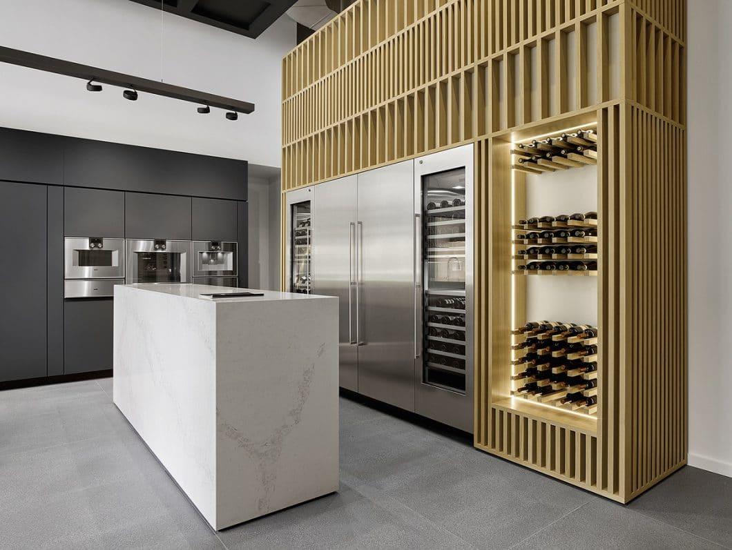 Wein-Degustation, neueste Kaffeetrends und Kochabende zu Kultur und Kulinarik lassen sich in hochwertigem Ambiente realisieren. (Foto: Gaggenau)