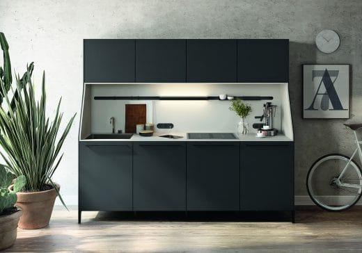 Auch die Luxusküchenmarke SieMatic setzt mit seiner URBAN-Linie auf den außergewöhnlichen Modul-Look. (Foto: SieMatic)
