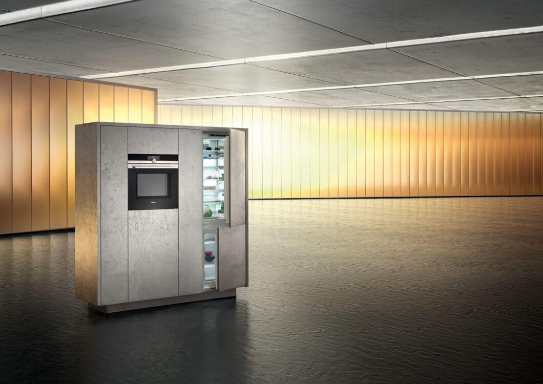 Auf ein atmosphärisches Lichtspiel setzt Siemens schon länger. In den Geräte-Neuheiten für 2021 spielen Licht-Elemente nochmals eine größere Rolle. (Foto: Siemens Hausgeräte)