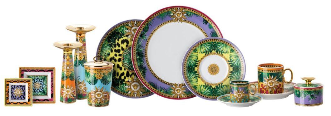 Die auf dieses Jahr limitierte Jungle Animalier-Kollektion umfasst einen Platzteller, einen Brotteller, ein Schälchen, eine Vase, eine Duftkerze und einen Aschenbecher. (Foto: Rosenthal)