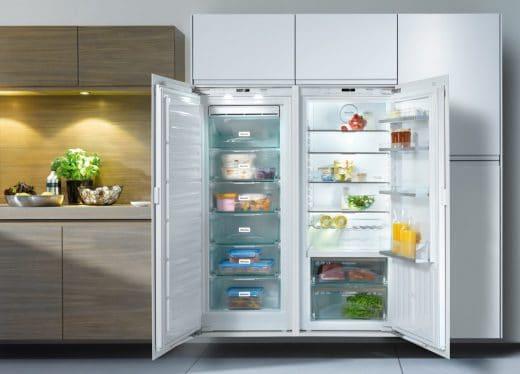 Ein No Frost-Gerät von Miele: Damit können Sie die Kühlschranktür auch unbedenklich mal länger geöffnet lassen. (Foto: Miele)
