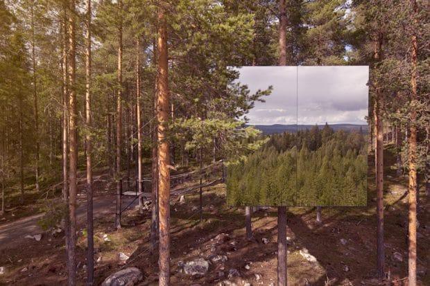 Der exzentrische Mirror Cube kann im schwedischen Luleå als Feriendomizil angemietet werden. (Architekten: Bolle Tham & Martin Videgård)