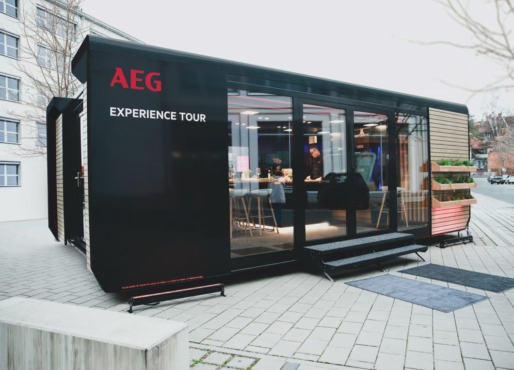 """Gut gemeint, aktuell wohl auf Eis gelegt: die """"AEG Experience Tour"""" soll Händlern und Verbrauchern nachhaltiges Kochen näherbringen. Ein Thema, das hoffentlich nach Corona wiederbelebt wird. (Foto: AEG)"""