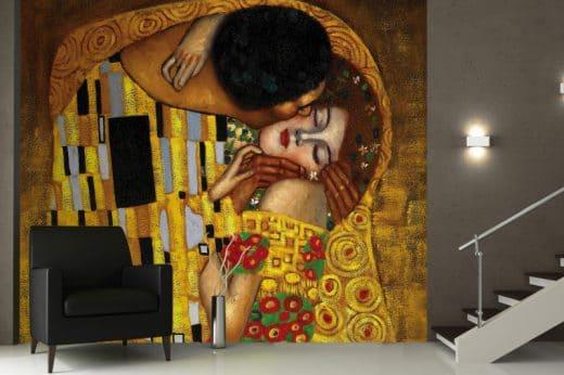 (Foto: murawalls) The Kiss Gustav Klimt