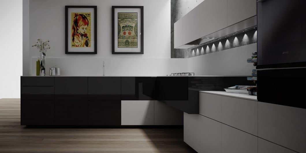 Die Artematica Pigmentus ist in Hochglanzlack oder einem sanften Mattlack erhältlich. Die puristisch-glatte Oberfläche stützt das hochwertige Design der Küche. (Foto: Valcucine)