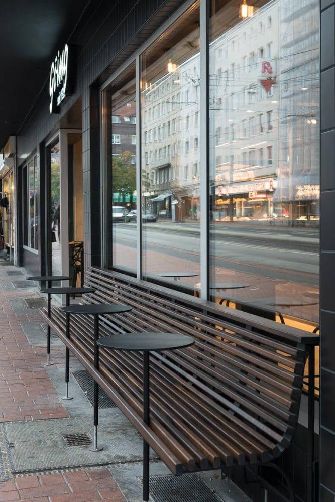 Beim ungewöhnlichen Außenbereich weiß man: Hier waren Designer am Werk. (Foto: Stefan Wolf Lucks)