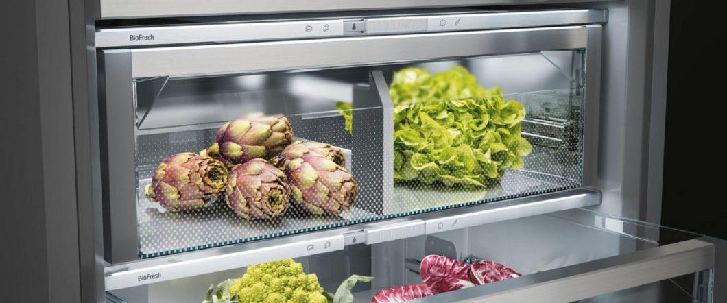 Die BioFresh-Technologie der Liebherr-Kühlschränke soll Lebensmittel bis zu 3x länger frisch halten - und so auch ein Zeichen gegen die Wegwerfgesellschaft setzen. (Foto: Liebherr)