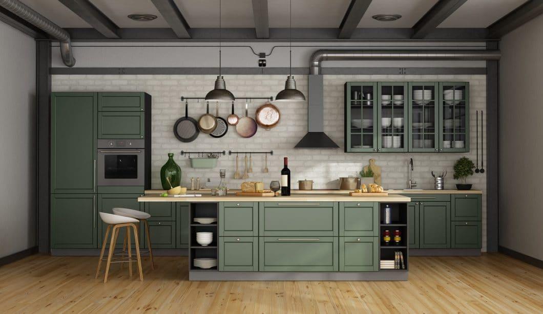 Was wir gern aus 2019 mitnehmen: die Rückbesinnung auf Holzküchen, Metall-Elemente und die Farbe Schwarz im Küchenraum. Was weniger schön war: Traditionshersteller, die zu kämpfen haben. (Foto: stock)