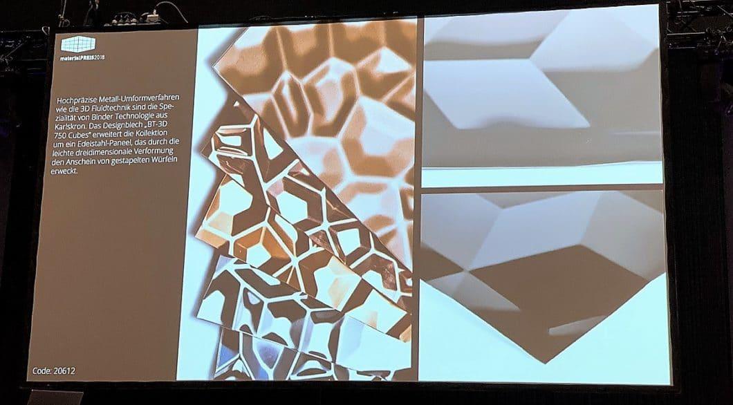 Nicht nur neue Materialien und Farbkombinationen, sondern auch die Prägung dieser Materialien - wie hier Metall - werden zukünftig im Vordergrund stehen. (Foto: raumPROBE)