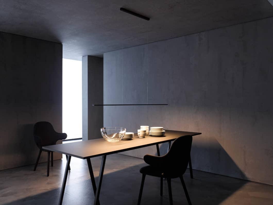 So wie hier tritt das Unternehmen GERA Leuchten selten in Erscheinung. Die hochwertigen Licht-Elemente der Thüringer stecken vielmehr in Küchen- und Wohnraummobiliar und sorgen für eine diffuse, indirekte Beleuchtungsatmosphäre. (Foto: GERA Leuchten)