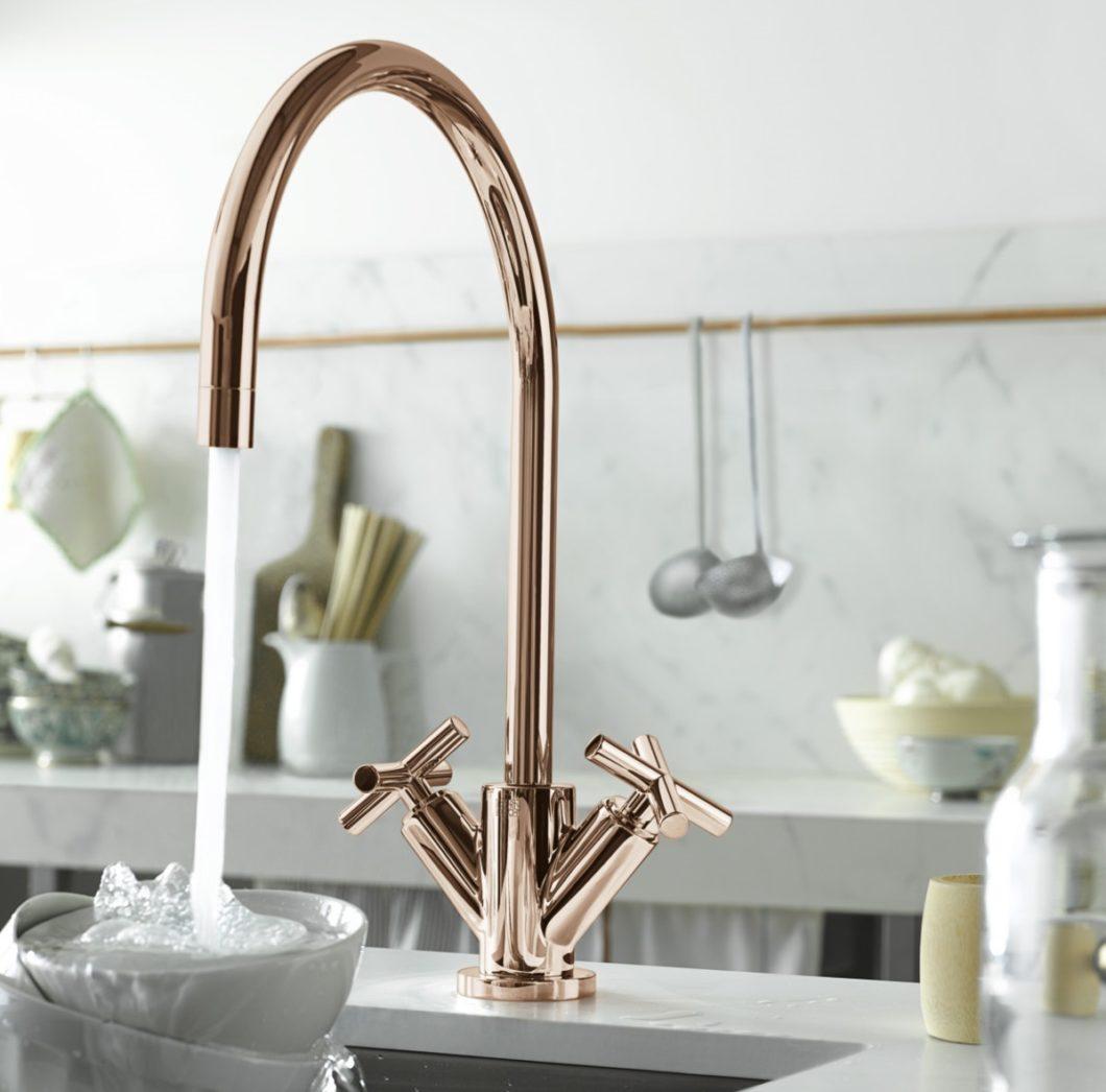 Individualität sucht Luxus: Kupfer als Material und Farbton ist im Küchenbereich vom Trendobjekt zur persönlichen Gestaltungsnote avanciert. (Foto: Dornbracht)