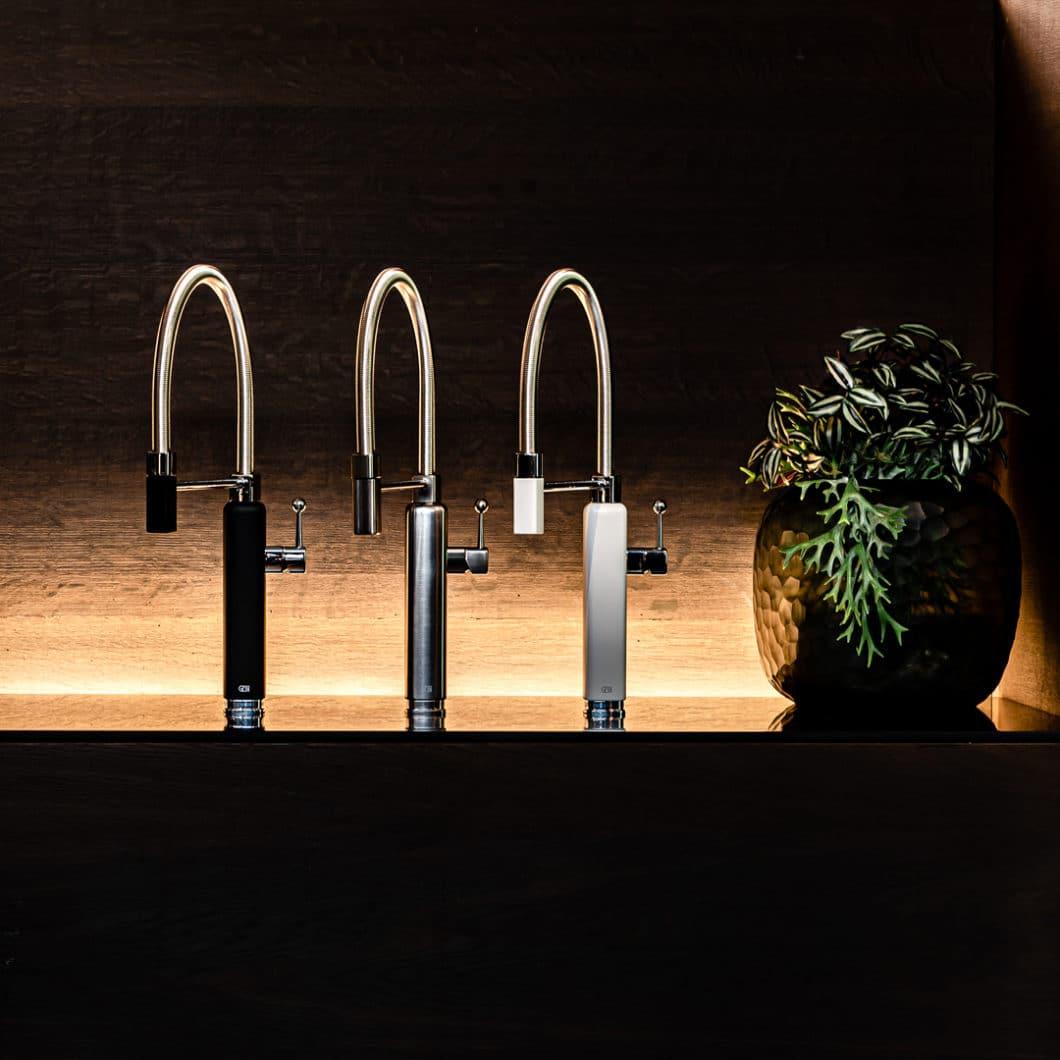 """Gessi verbindet ungewöhnliches Armaturendesign mit höchster Funktionalität. Kein Stil ist """"typisch"""" für das Unternehmen - von klassisch bis minimalistisch ist alles geboten. (Foto: Happy/Gessi)"""