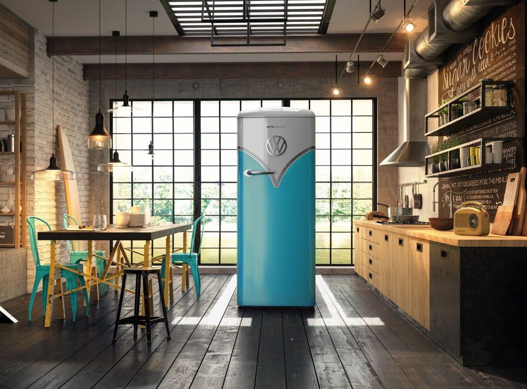 Gorenje meldet sich auf der IFA 2017 mit modernen Klassikern wie dem VW-Bulli-Kühlschrank zurück, aber auch mit modernem Designanspruch à la Philippe Starck. (Foto: Gorenje)
