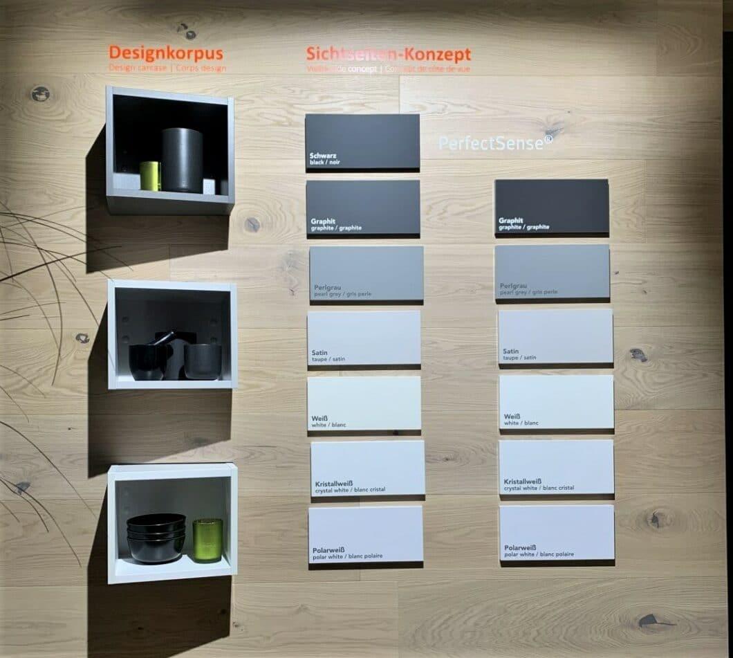 """Auch Häcker setzt bei seiner neu präsentierten Linie """"systemat 3.0"""" auf drei gedeckte Korpusfarben in zunehmend dunkleren Tönen. (Foto: Küchen&Design Magazin)"""