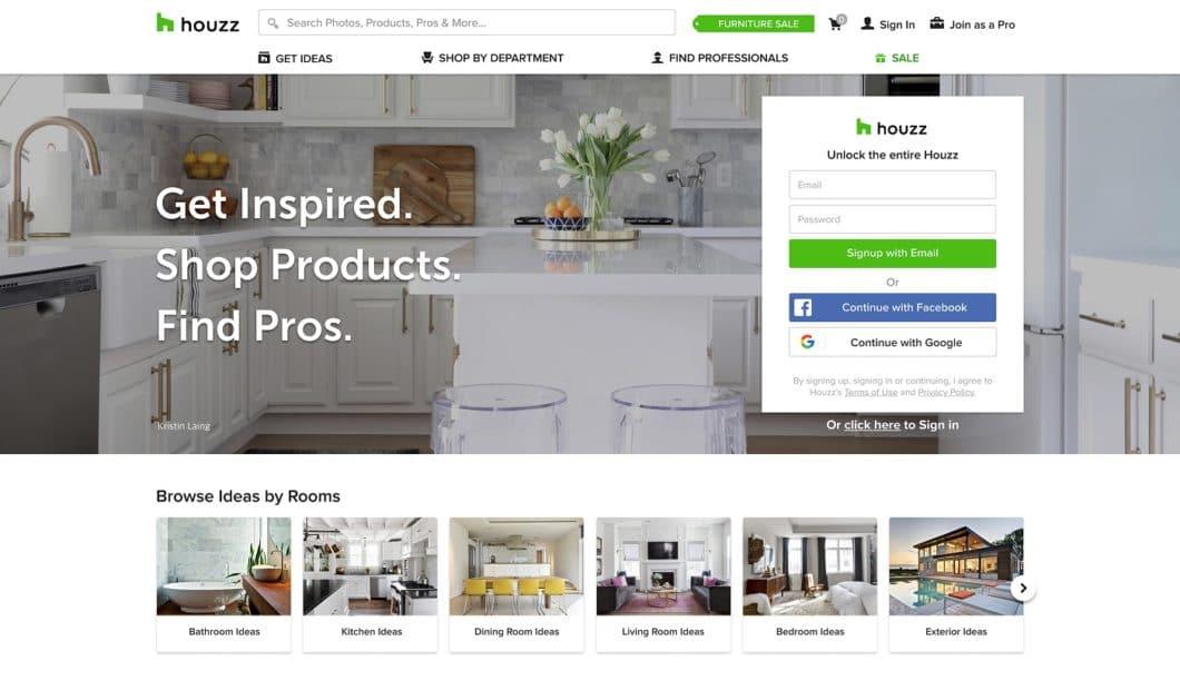 Houzz ist eine amerikanische Plattform, die Vorher-Nachher-Projekte für alle Räume des Hauses vorstellt und regelmäßig Studien erhebt zum Renovierungsverhalten seiner Leser. Besonders beliebt: die Küche. (Foto: Houzz)