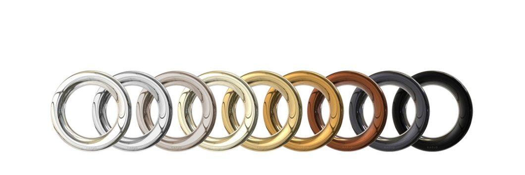 Die Kronen des Weinkühlers können in 9 luxuriösen Metall- und Farbauslegungen erstanden werden, darunter Titan, Gold, Kupfer oder Schwarz. (Foto: kaelo.co.uk)
