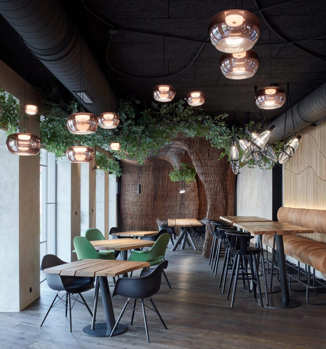 Natürliche, organische Formen im Zusammenspiel mit industriellen Designelementen: das STK Restaurant ist ein Ort der Kontraste. (Foto: BoysPlayNice)