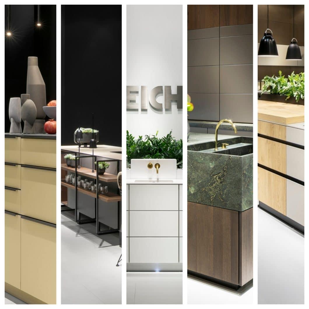 5 verschiedene Küchenmodelle präsentierte LEICHT auf der LivingKitchen 2019. Welches wäre Ihr Favorit? (Fotos: LEICHT; Quelle: KüchenDesignMagazin)