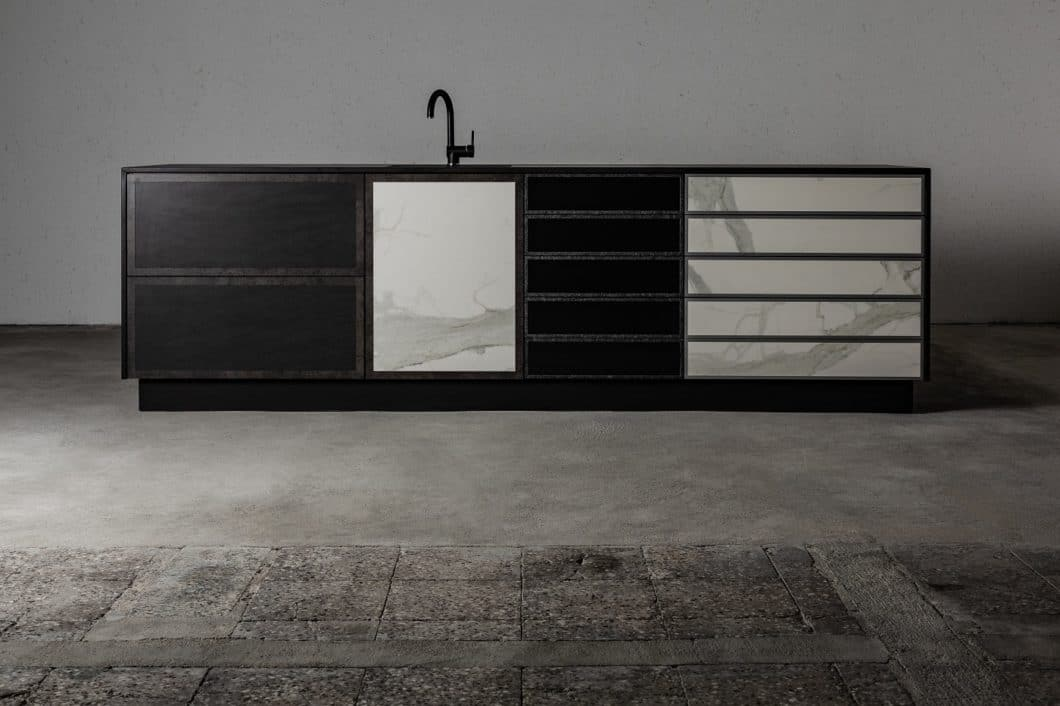 Die Designlinie n'Stee steht für individuelle Unikate im Bereich der Steinküchen - sowohl für den Outdoorbereich als auch die anspruchsvolle Indoor-Küche geeignet. (Foto: MCR)