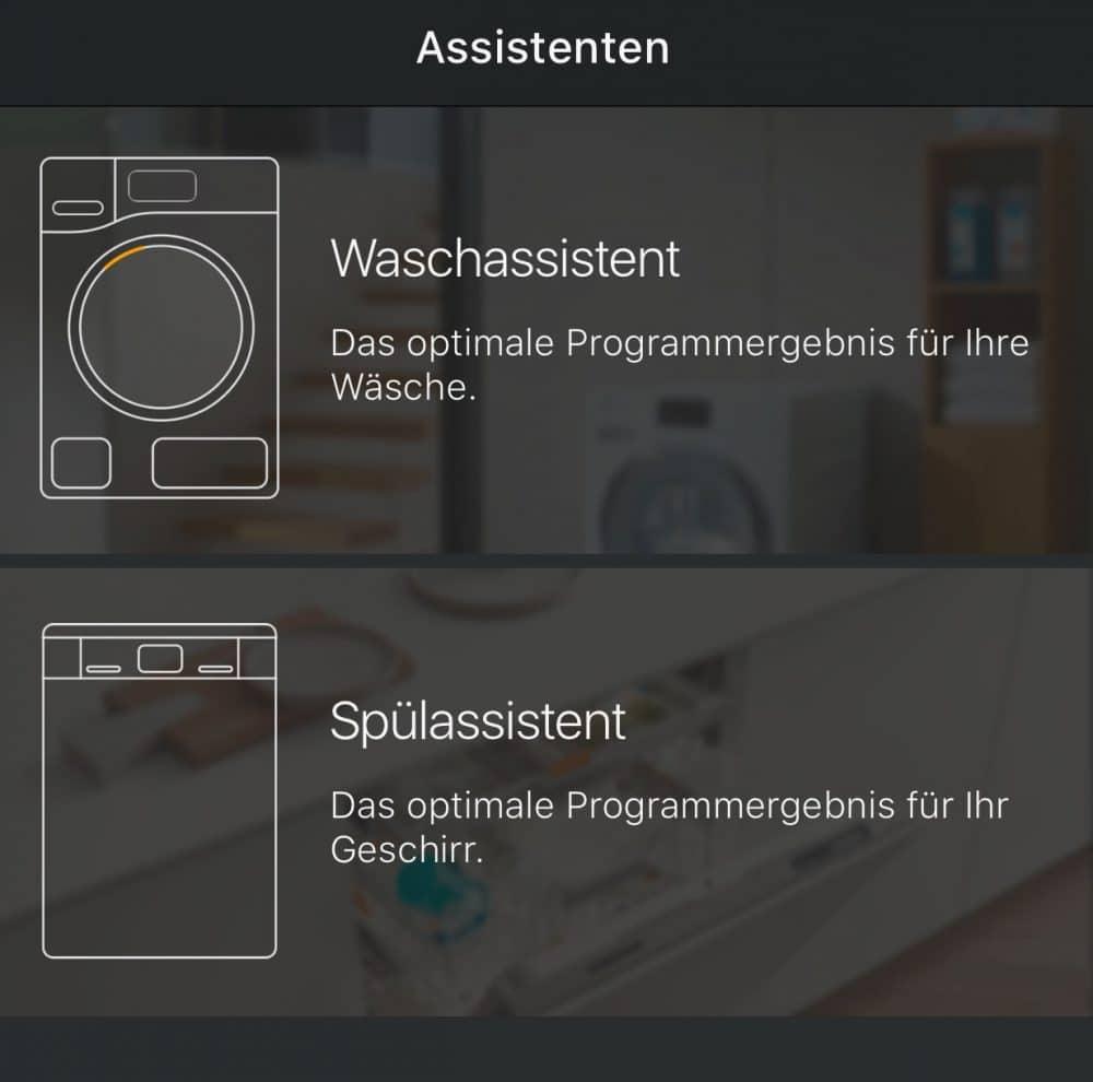 Die Miele@mobile-App wählt per Klick den optimalen Koch-, Spül- und Waschvorgang aus. (Foto: Miele)