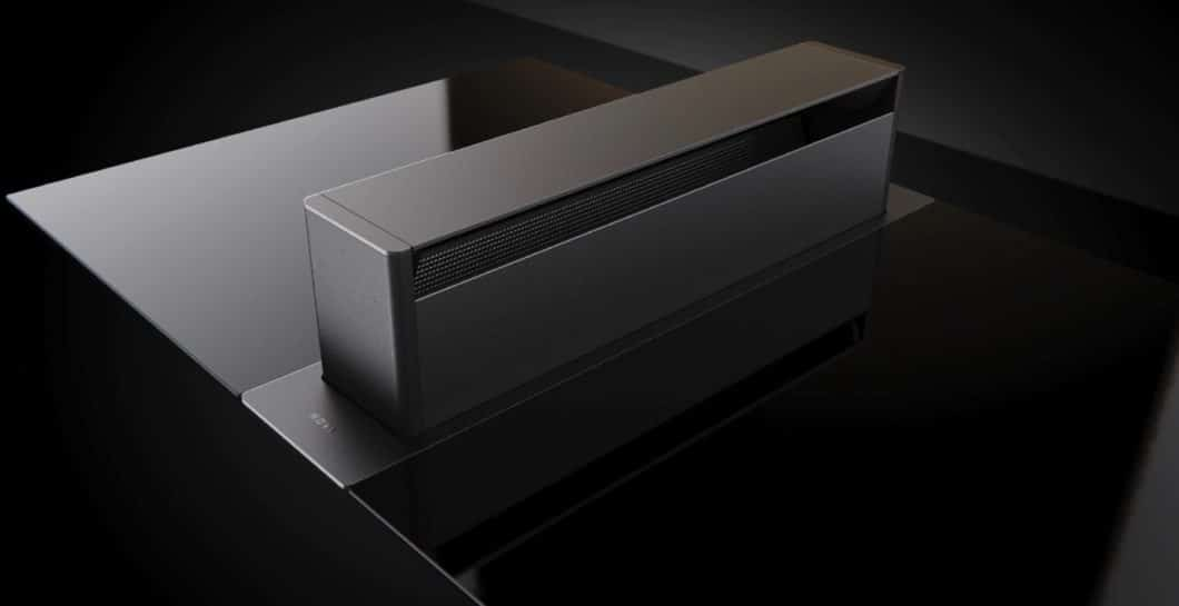 """Das neueste Muldenlüfter-Modell aus dem Hause Novy ist die überholte Version der """"UP"""": ein mattes Edelstahldesign trägt neben einer verbesserten Technik auch zu einer dezenten Optik bei. (Foto: Novy)"""