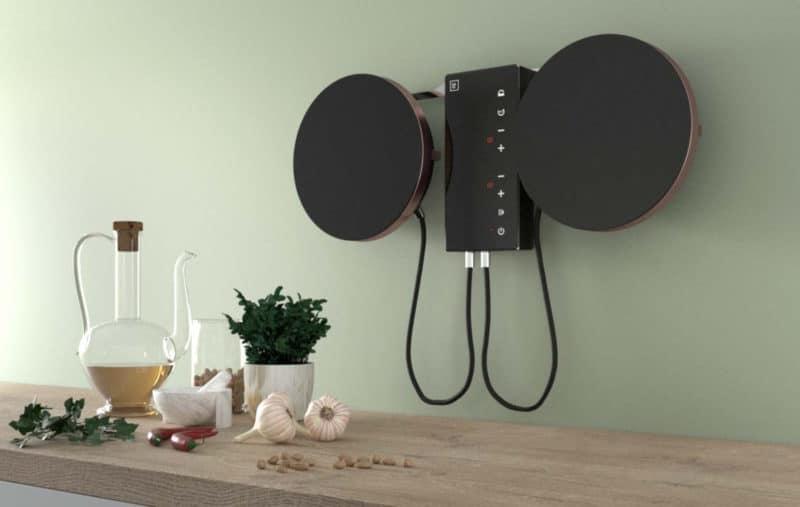 """Wenig Platz zum Kochen oder eine zusätzliche Bratfläche benötigt? Die tragbaren Induktionsplatten """"Ordine"""" helfen in stylischem Design aus. (Foto: refsta)"""