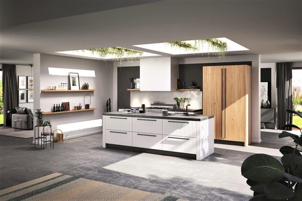 Die Küchenmanufaktur Rotpunkt setzt auf ökologisch nachhaltige Küchen - das passt besonders gut zum skandinavisch-modernen Landhausstil. (Foto: Rotpunkt)