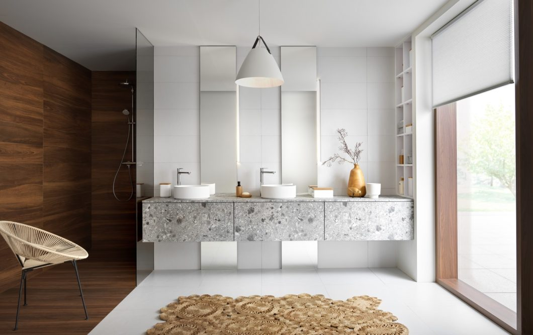 Jedes Jahr bringt die SCHMIDT-Gruppe neue Kollektionen für Möbel, Garderobe, Ankleide, Küche und Bad auf den Markt. Dabei werden auch neue und trendige Materialien wie Terrazzo aufgegriffen. (Foto: SCHMIDT Küchen)