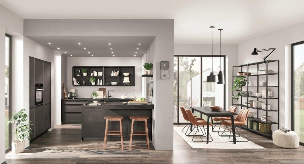 Das Produkt BORA GP4 soll vor allem kleine und kompakte Küchenräume mit einem Kochfeldabzug aufwerten. Vertrieben wird ausschließlich in der Kombination BORA und nobilia. (Foto: nobilia)