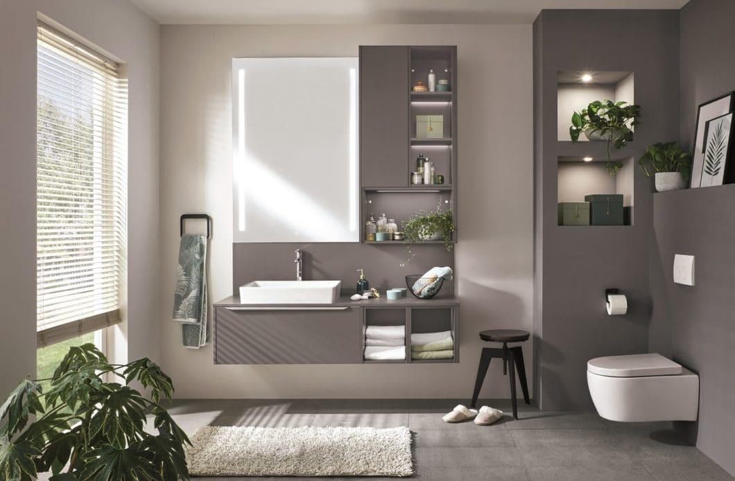 ...sondern auch für gepflegte Bad- und Garderobenmöbel. (Foto: nobilia)