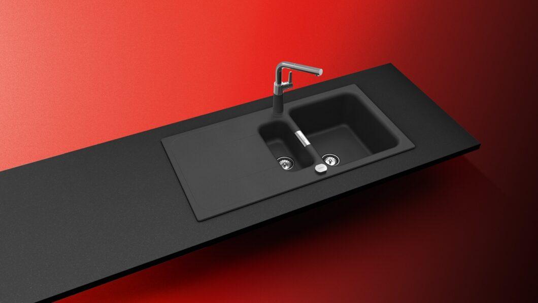 """""""Sink Green"""" fordert SCHOCK Verbraucher wie Händler auf. Das geht natürlich auch in intensivem Rot und Schwarz. (Foto: SCHOCK)"""