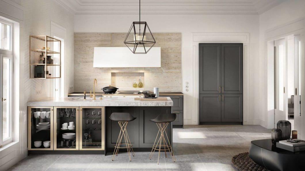 Eine der wichtigsten Fragen in der Vorbereitung für eine Küchenplanung: möchte ich eine offene Küche oder einen in sich geschlossenen Küchenraum inklusive aller Vor- und Nachteile? (Foto: SieMatic)