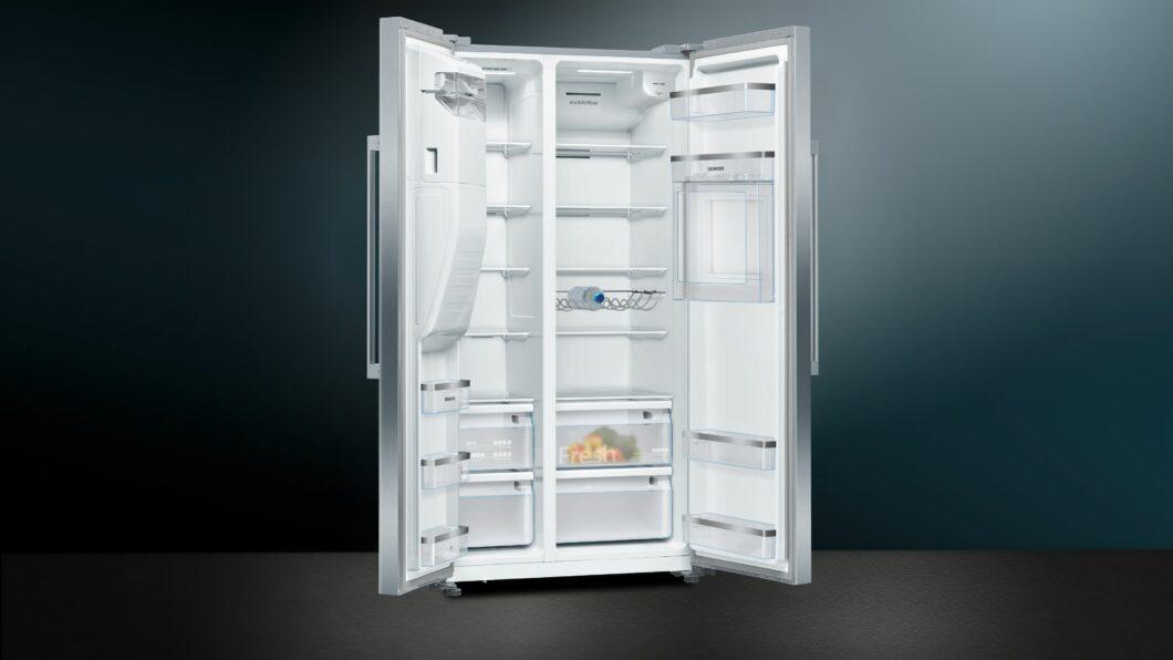 XXL muss es sein - das galt lange Zeit vor allem für die Kühlschränke der Amerikaner. Der Trend zu voluminösen Geräten ist auch nach Europa übergeschwappt - Corona als Beschleuniger großzügiger Vorratshaltung. (Foto: Siemens Hausgeräte)