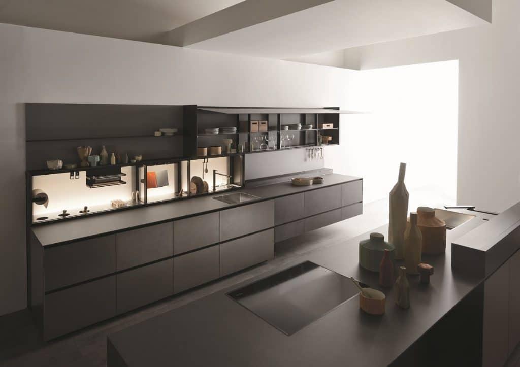 Valcucine ist ein besonderer Küchenhersteller: neben Design und Funktionalität spielt die Hingabe zu Nachhaltigkeit eine besondere Rolle. So auch bei der Valcucine Riciclantica. (Foto: Valcucine)