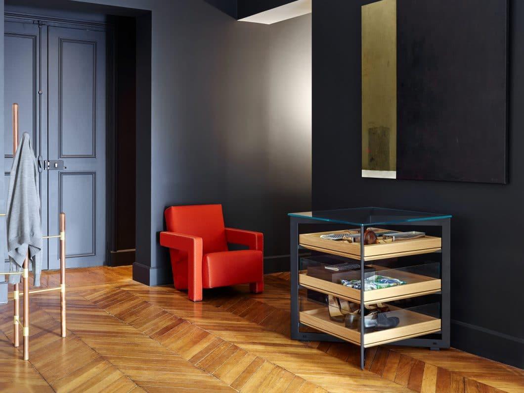 Die Stauraum-Module der bulthaup b Solitaire sind ihrer Zeit voraus: Warum nicht als moderne Vitrine fürs Wohnzimmer oder den Flur verwenden? (Foto: bulthaup)