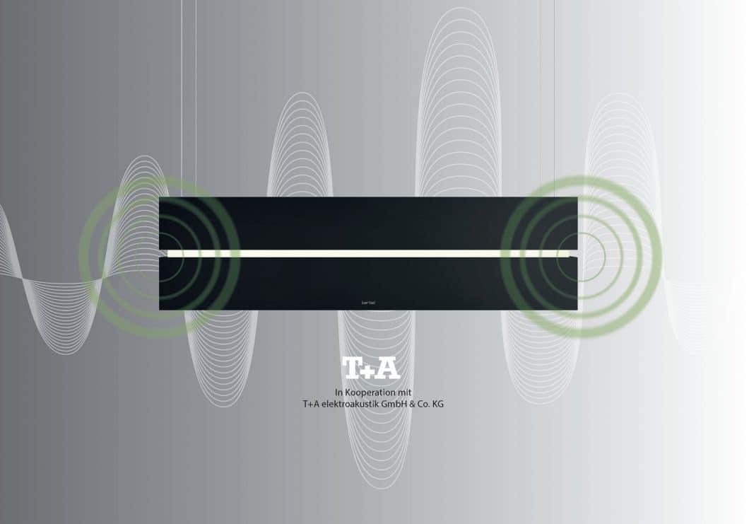 Die berbel Skyline Edge Sound liefert Premium-Sound aus dem Hause T+A in Kooperation mit der Dunstabzugshaube berbel Skyline. Ebenfalls eine innovative von berbel. (Foto: berbel)