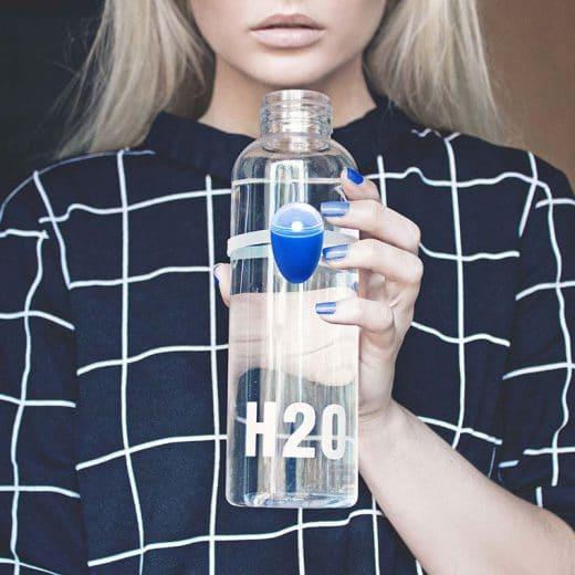 Ulla kann per Silikonband an jeder beliebigen Flasche in Küche & Büro festgemacht werden. (Foto: ulla.io)