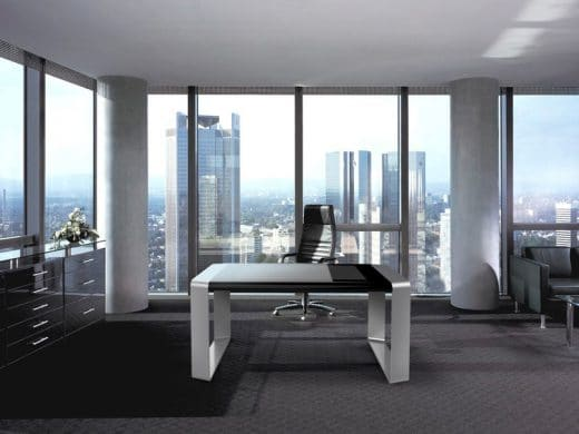 Der D-Table kann selbstverständlich auch im Büro als Schreibtisch und Präsentationsfläche genutzt werden. (Foto: D-Table)