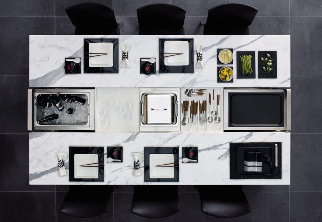Der Dining Desk von Poggenpohl wurde bereits 2008 entworfen und ist eine attraktive Idee, die leider nicht genügend Aufmerksamkeit im Markt erhielt. (Foto: Poggenpohl)