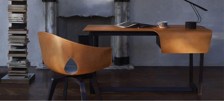 """Feinste Lederbezüge auf einem stand- und sitzfesten Polyurethanschaum. Der hochwertige Stuhl """"Ginger"""" von Roberto Lazzeroni für Poltronafrau macht sich in jedem Männerappartement bemerkbar. Label: Lazzeroni für Poltronafrau"""