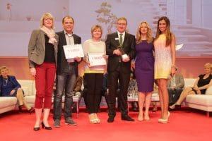 Mit prominenten Gästen wie Barbara Schöneberger und Jana Ina Zarrella wurden die Küchenplaner des Studios Hillig in Dresden bereits 2014 ausgezeichnet. (Foto: Küchenstudio Hillig)