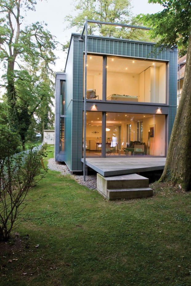 Das Ökohaus von Florian Kunzendorf (Lignotrend) gewann sogar eine Ausschreibung für umweltfreundliche Modularhäuser.