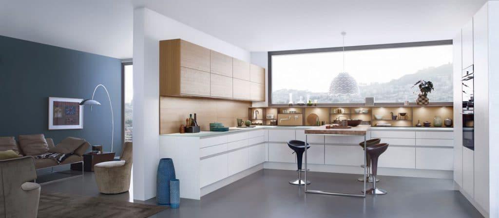 Betonküche Leicht in weiß