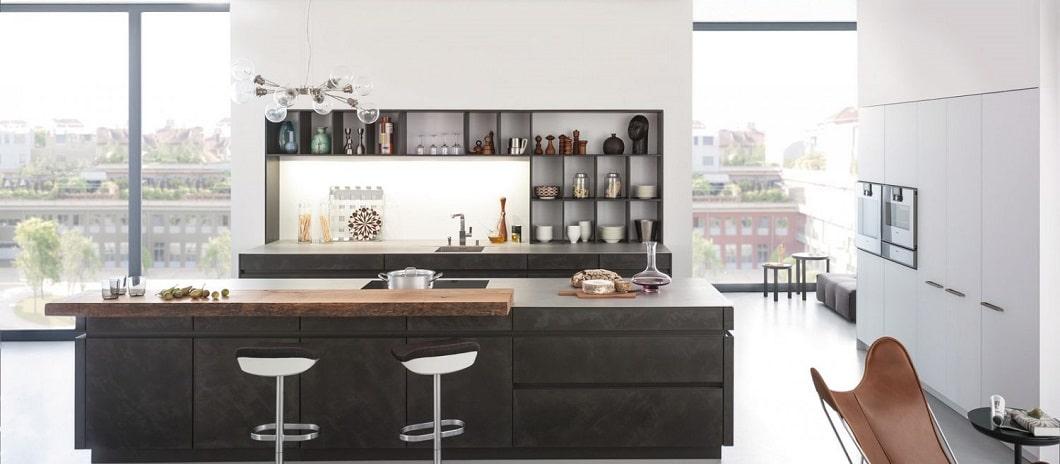 """Betonküche """"Concrete"""" von Leicht, Küchen aus Stein und Beton, neue Trends, Küchenmaterialien"""