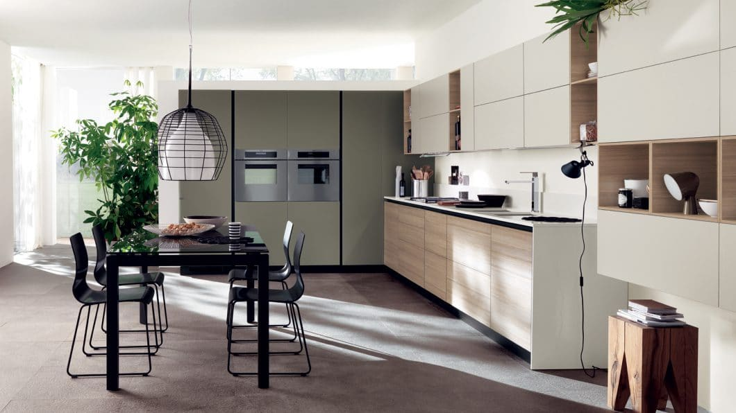 Ein modernes Modell aus dem Hause Scavolini, das auch sehr traditionelle italienische Küchen fertigt. (Foto: Scavolini)