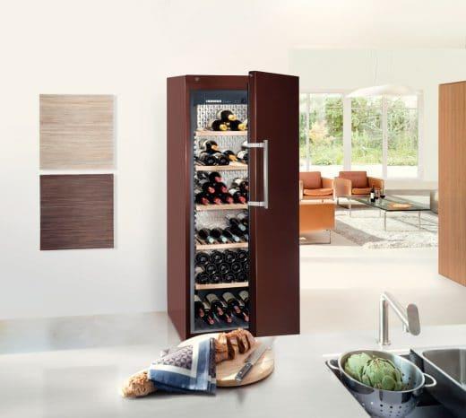 Der GrandCru-Weinklimaschrank von Liebherr kann individuell zusammengesetzt werden. (Foto: Liebherr)