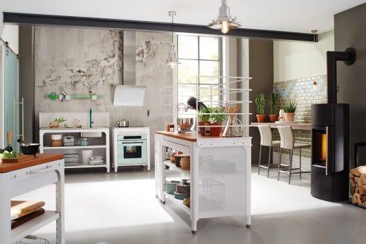 Die mobilen Modulküchen von Naber, auch ConceptKitchen genannt, setzen sich aus verschiedenen einzelnen Elementen zusammen. (Foto: Naber)