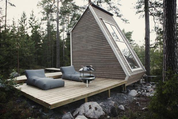 """Architekt Robin Falck hat sich mit dem Projekt """"Nido"""" in Finnland auf kleinstem Raum (96qm²) ein großes Denkmal gesetzt. (Foto: Robin Falck)"""